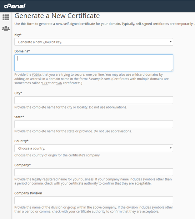 How To Generate CSR In cPanel