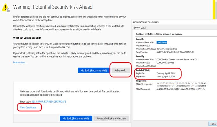 """SEC_ERROR_EXPIRED_CERTIFICATE"""" Error in Firefox & Chrome"""