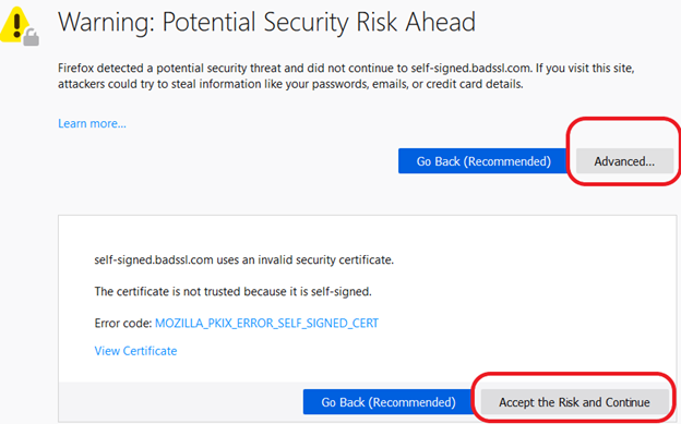 Guide on How to Fix the 'Warning: Potential Security Risk Ahead' in