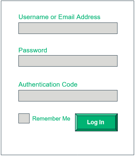 An example of a login page
