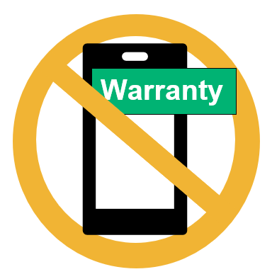A graphic illustrating that jailbreaking an iPhone voids its warranty