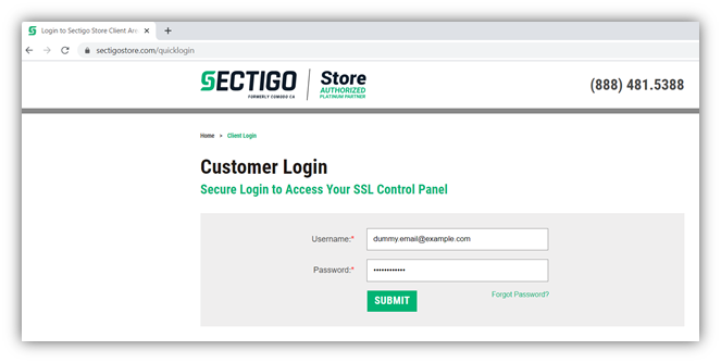 Screenshot for the cybersecurity for startups tip showcasing a secure login field