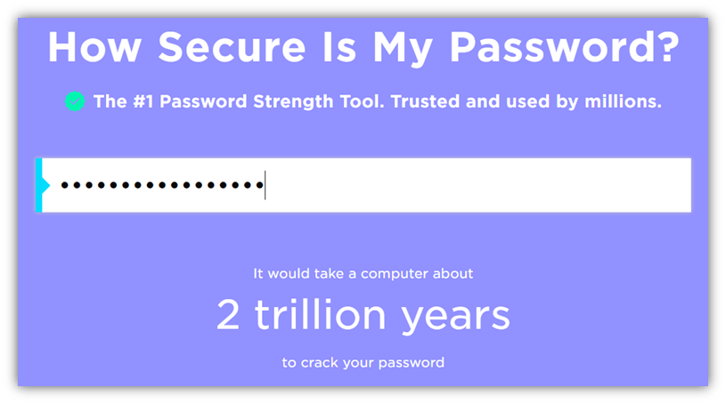 Screenshot of security.org's password checker tool