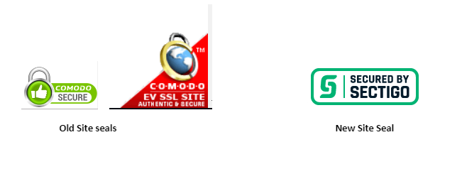 Difference between Comodo site seal and sectigo site seal