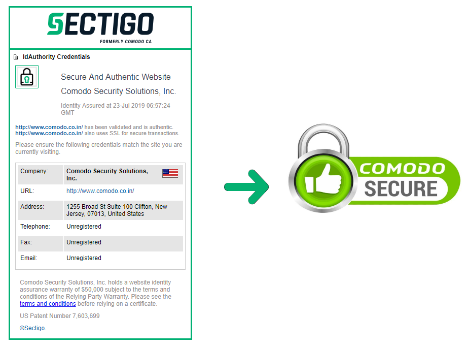 News: Comodo Secure Site Seal is Rebranded as Sectigo Site