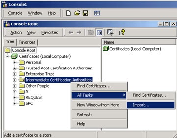 Certificate Root Console