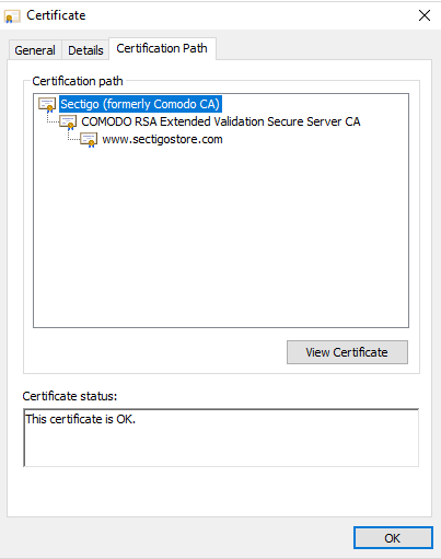 Sectigo RSA Domain Validated Secure Server