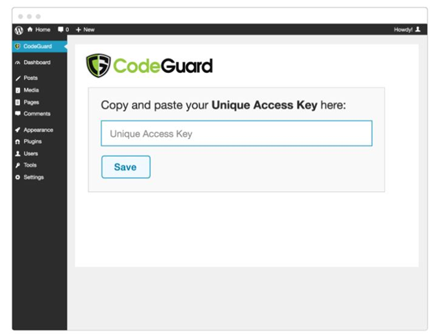 codeguard installation key