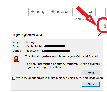 secure email certificate.