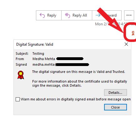 outlook digital signature